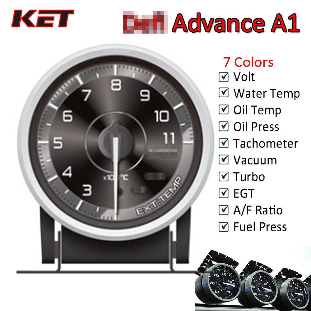 Defi Advance A1 60mm Defi Gauge Water Temp Gauge Oil Temp Gauge Turbo Boost Gauge Ext Temp Gauge Oil Pressure Gauge